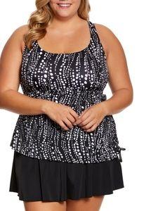 Maxine Plus Size Waterfall Swim Dress